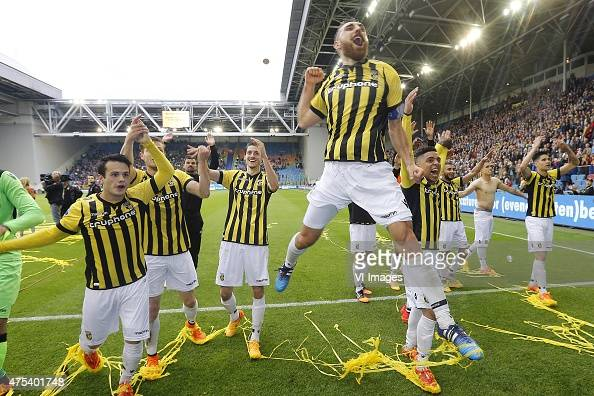 Guram Kashia of Vitesse during the Europa League playoffs Final match between Vitesse Arnhem and SC Heerenveen at Gelredome on May 31 2015 in Arnhem...