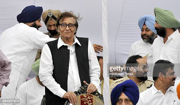 Gurdaspur MP Vinod Khanna during the oath taking ceremony of Punjab Governor VP Singh Badnore at Punjab Raj Bhawan on August 22 2016 in Chandigarh...