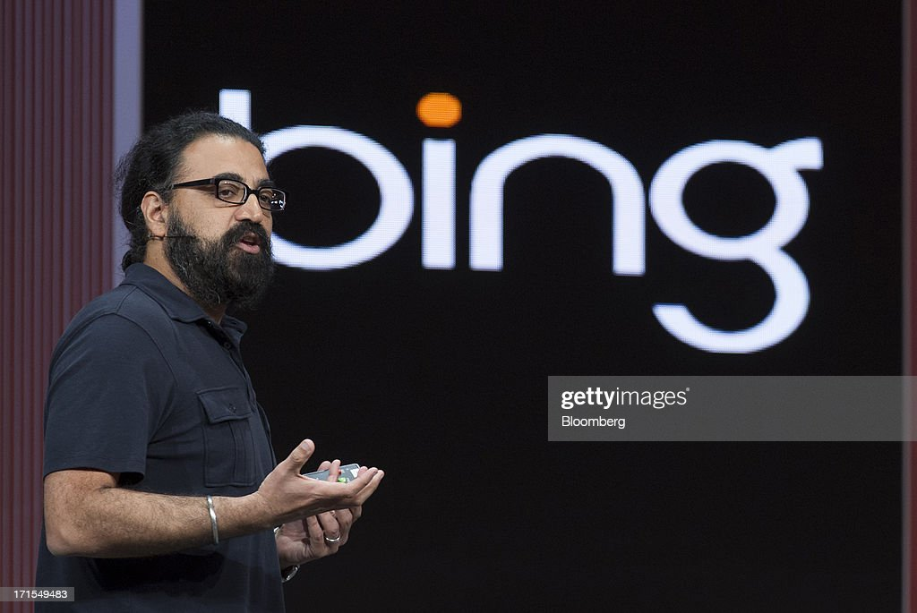 Gurdeep Singh Pall, corporate vice president of information platform & experience for Microsoft Corp., speaks during the Microsoft Corp. Build Developers Conference in San Francisco, California, U.S., on Wednesday, June 26, 2013. Facebook Inc. is building an application for Microsoft Corp.'s Windows 8, adding one of the most popular programs still missing from the operating system designed to help Microsoft gain tablet customers. Photographer: David Paul Morris/Bloomberg via Getty Images