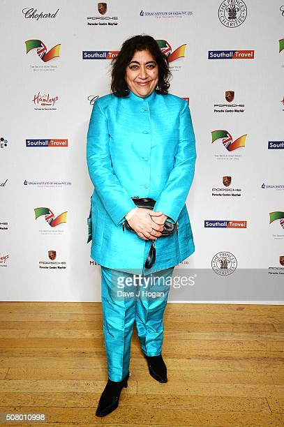 Gurinder Chadha attends a reception and dinner for supporters of The British Asian Trust at Natural History Museum on February 2 2016 in London...