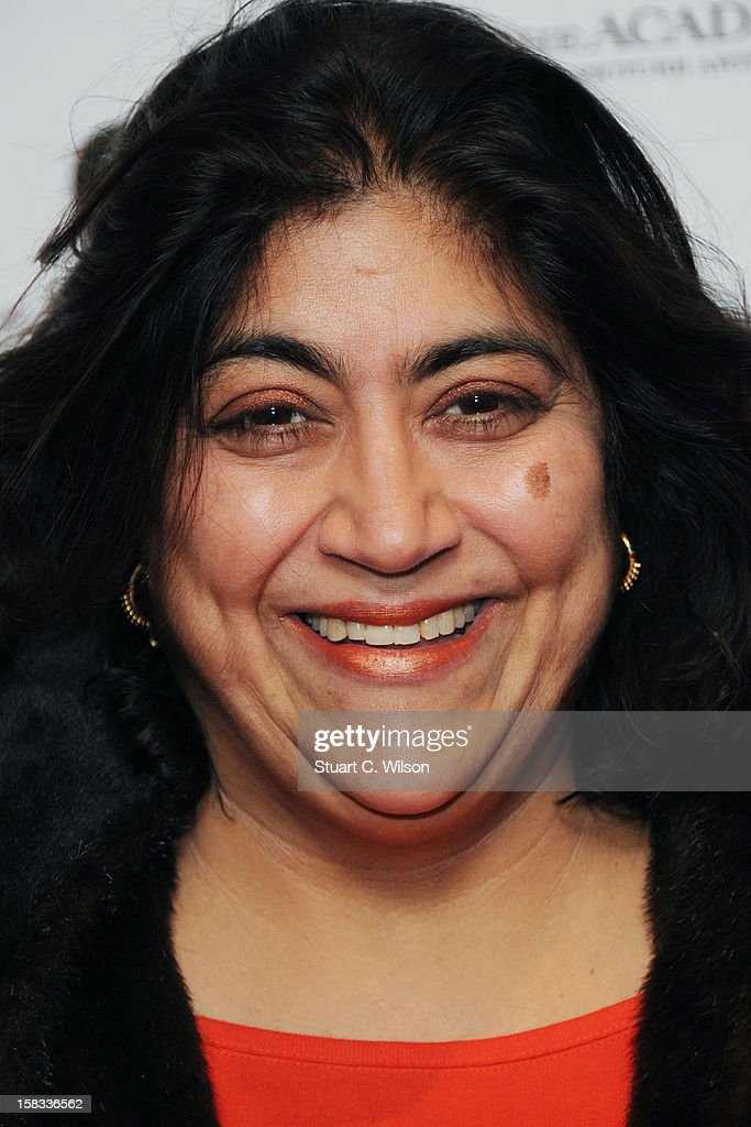 Gurinder Chadha attends as The Academy of Motion Picture Arts and Sciences honours director Pedro Almodovar at Curzon Soho on December 13, 2012 in London, England.