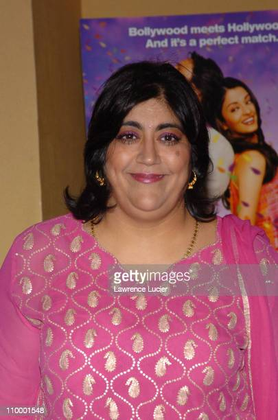 Gurinder Chadha during Bride Prejudice New York City Premiere at United Artists Union Square in New York City New York United States