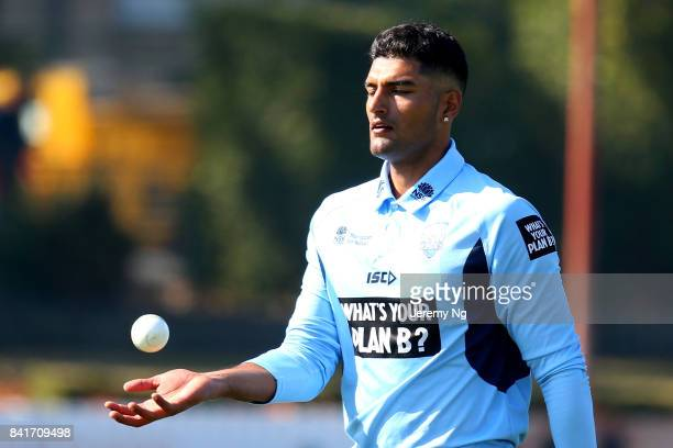 Gurinder Sandhu of Cricket NSW prepares to bowl during the Cricket NSW Intra Squad Match at Hurstville Oval on September 2 2017 in Sydney Australia