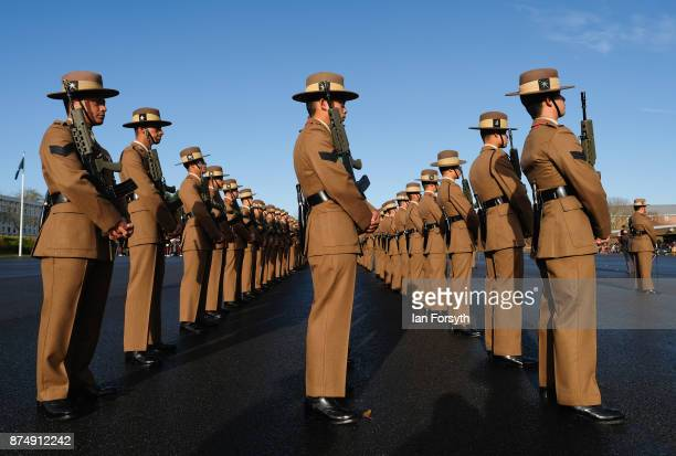 Gurkha recruits pass out as they complete their military training at Helles Barracks at the Infantry Training Centre on November 16 2017 in Catterick...