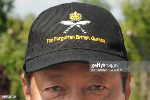 A Gurkha veteran watches as Liberal Democrat leader Nick Clegg addresses a meeting at Coxheath Village Hall in Kent attended by Gurkha veterans and...