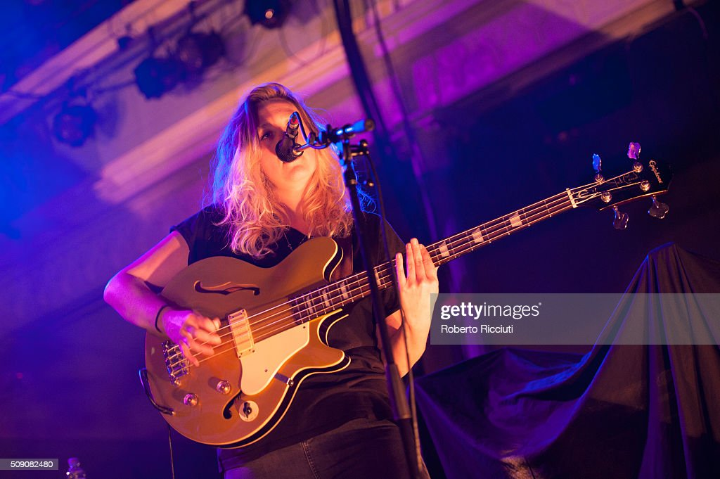 Guro Gikling of All We Are performs on stage at Queen's Hall on February 8, 2016 in Edinburgh, Scotland.