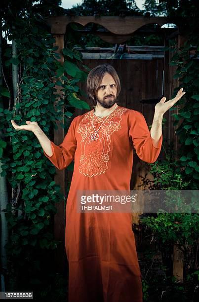 guru in seinem Garten