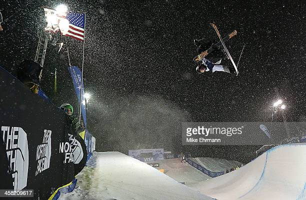 Gus Kenworthy competes during finals for the mens FIS Ski Halfpipe World Cup at US Snowboarding and Freeskiing Grand Prix on December 20 2013 in...