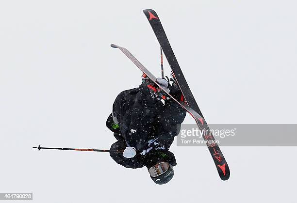 Gus Kenworthy competes during the FIS Freeskiing World Cup 2015 Men's Freeskiing Halfpipe Final during the US Grand Prix at Park City Mountain on...