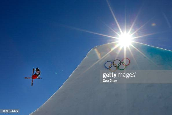 Gus Kenworthy of the United States competes in the Freestyle Skiing Men's Ski Slopestyle Finals during day six of the Sochi 2014 Winter Olympics at...