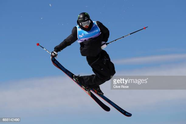 Gus Kenworthy of the United States competes in the Men's Slopestyle final during day twelve of the FIS Freestyle Ski Snowboard World Championships...