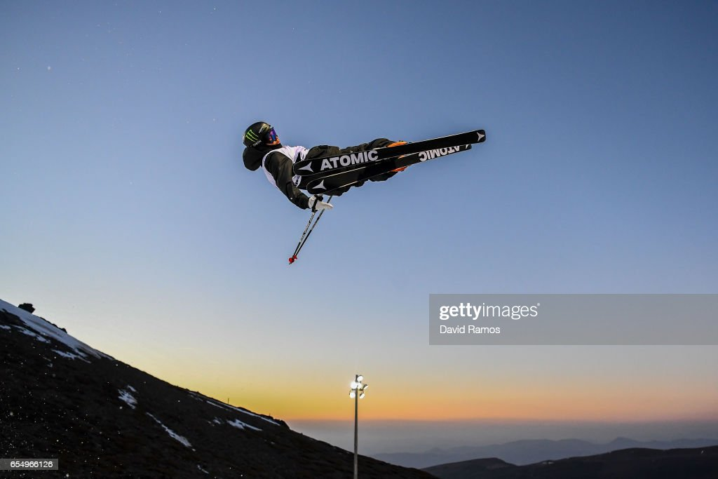 Gus Kenworthy of the United States in action during a training session ahead of the Men's Freestyle Ski Halfpipe final on day eleven of the FIS Freestyle Ski & Snowboard World Championships 2017 on March 18, 2017 in Sierra Nevada, Spain.