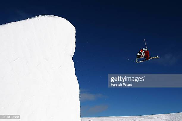 Gus Kenworthy of the United States of America competes in the Free Ski Slopestyle Mens Final during day six of the Winter Games NZ at Snow Park on...
