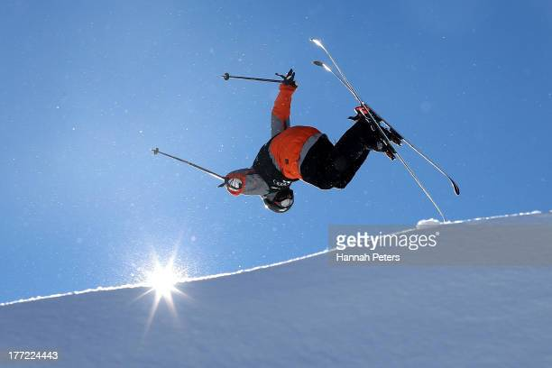 Gus Kenworthy of the USA competes in the FIS Freestyle Ski Slopestyle World Cup Qualifying during day nine of the Winter Games NZ at Cardrona Alpine...