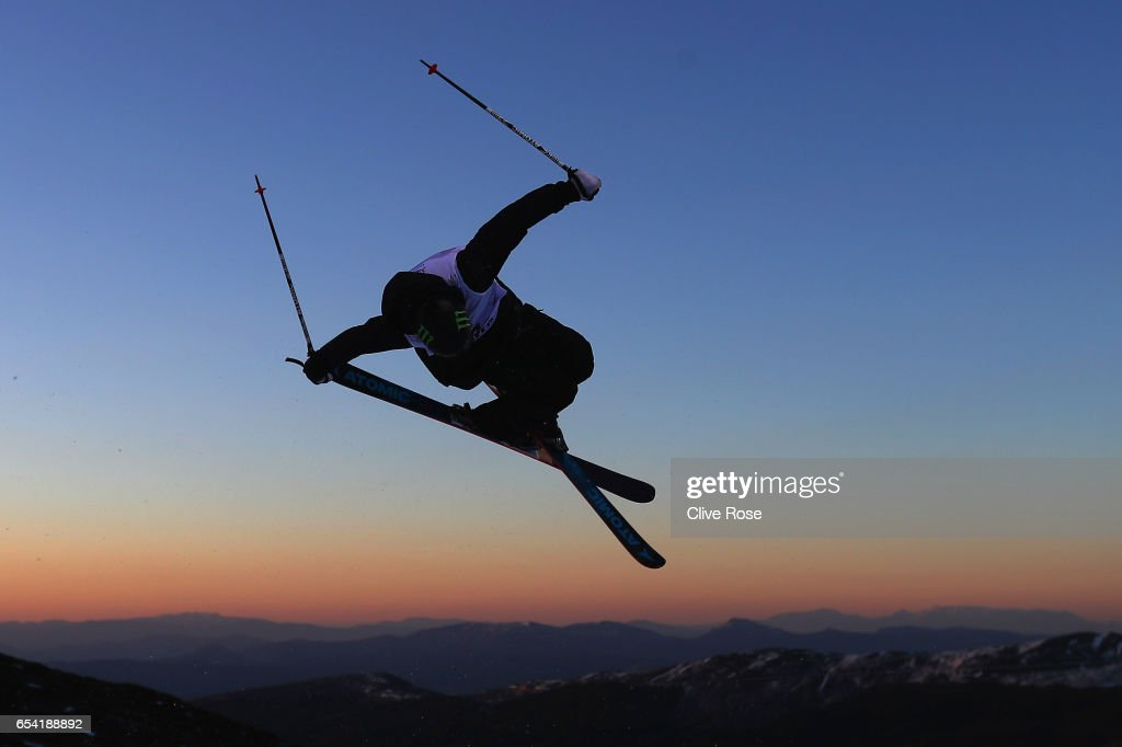 Gus Kenworthy of USA in action during on Men's halfpipe training on day 8 of the FIS Freestyle Ski & Snowboard World Championships 2017 on March 15, 2017 in Sierra Nevada, Spain.