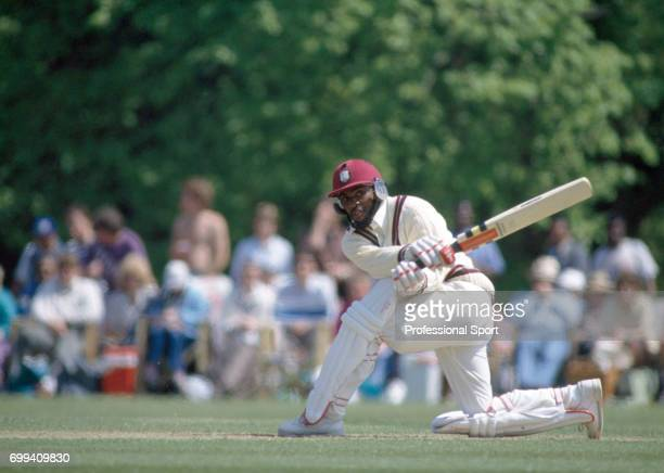 Gus Logie batting for West Indies during the tour match between Lavinia Duchess of Norfolk's XI and the West Indians at Arundel 12th May 1991