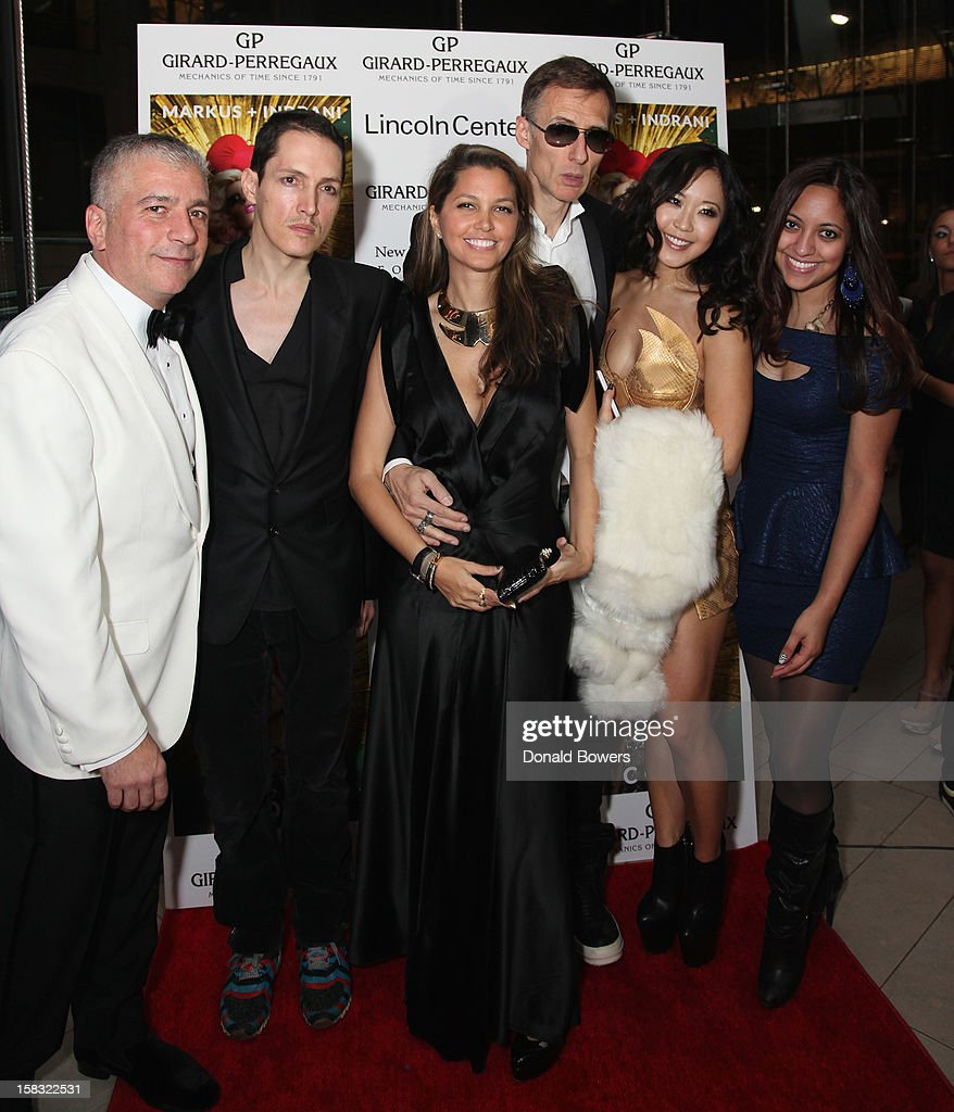Gus Michael Farinella, GK Reid, Indrani, Markus Klinko and guest attend Markus + Indrani's 'ICONS' Launch Event and VIP Gala at Alice Tully Hall, Lincoln Center on December 11, 2012 in New York City.