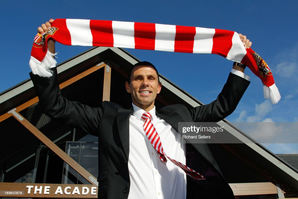 Gus Poyet is unveiled as new Sunderland manager during press conference at Academy of Light on Tuesday October 8, 2013 Sunderland, England.