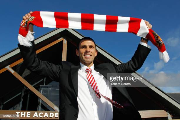 Gus Poyet is unveiled as new Sunderland manager during press conference at Academy of Light on Tuesday October 8 2013 Sunderland England