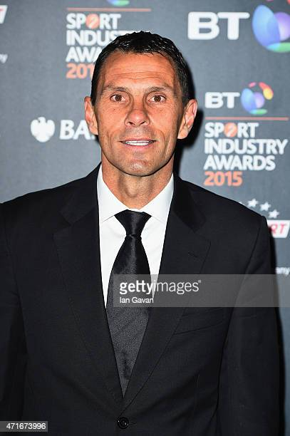 Gus Poyet poses on the red carpet at the BT Sport Industry Awards 2015 at Battersea Evolution on April 30 2015 in London England The BT Sport...