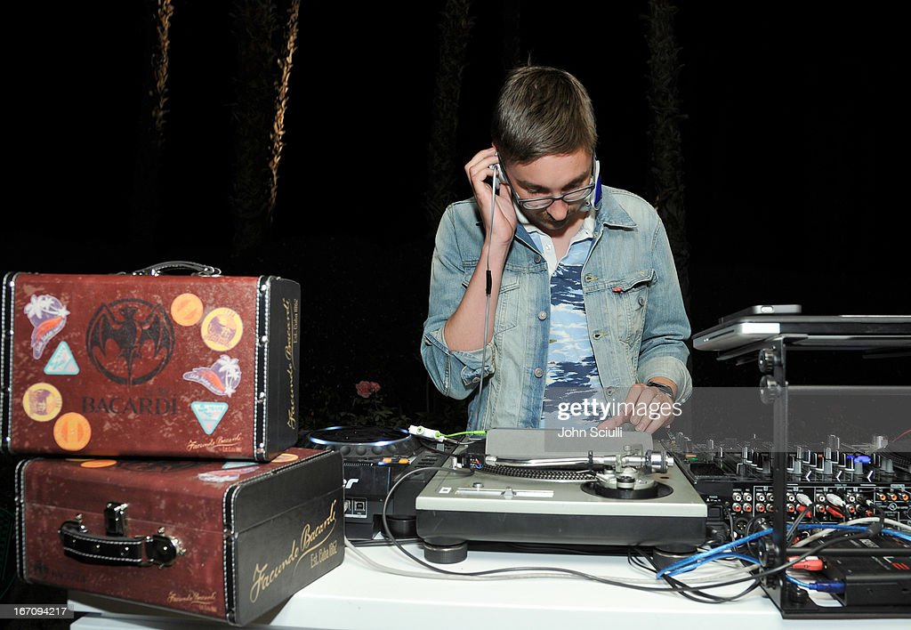Gus Unger Hamilton of Alt J attend the Soho House Pop Up with Bacardi during Coachella 2013 at Merv Griffin Estate on April 19, 2013 in La Quinta, California.