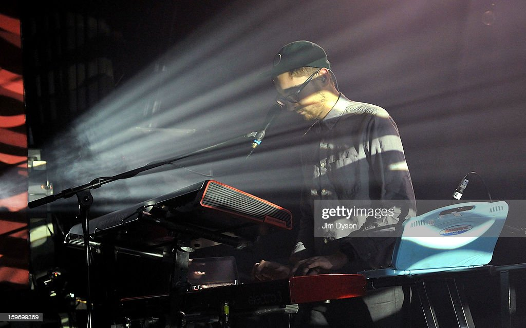 Gus Unger-Hamilton of Alt-J performs live on stage at Shepherds Bush Empire on January 18, 2013 in London, England.