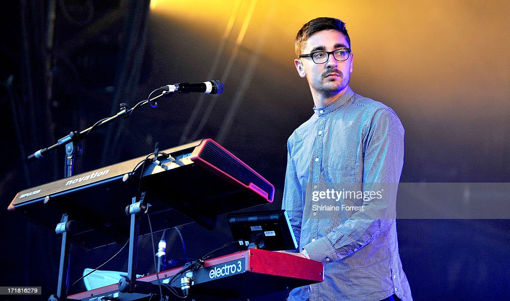 Gus Unger-Hamilton of Alt-J performs on day 2 of the 2013 Glastonbury Festival at Worthy Farm on June 28, 2013 in Glastonbury, England.