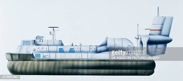 Gusclass landing hovercraft 19691974 Russia drawing