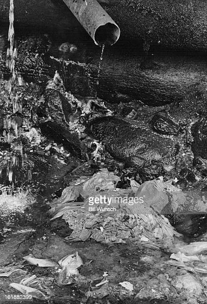 OCT 10 1969 NOV 18 1969 Gushing raw sewage into the Eagle River at Minturn Colo is this pipe connected directly to toilets Toilet tisísue and other...