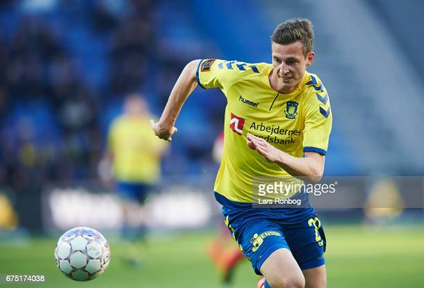 Gustaf Nilsson of Brondby IF in action during the Danish Alka Superliga match between Brondby IF and Sondejryske at Brondby Stadion on April 30 2017...