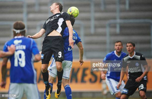 Gustaf Nilsson of Silkeborg IF in action during the Danish Alka Superliga match between Lyngby BK and Silkeborg IF at Lyngby Stadion on July 16 2017...