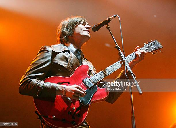 Gustaf Noren of Mando Diao performs on stage on day 3 of Rock Im Park at Frankenstadion on June 7 2009 in Nuremberg Germany