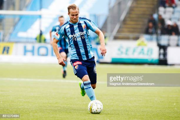 Gustav Engvall during the Allsvenskan match between IFK Norrkoping and Djurgardens IF on August 13 2017 in Norrkoping Sweden