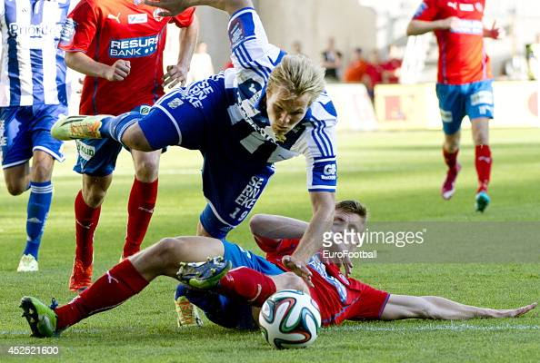 Gustav Engvall of IFK Goteborg in action during the Swedish Allsvenskan League match between IFK Goteborg and Helsingborg at the Gamla Ullevi Stadium...