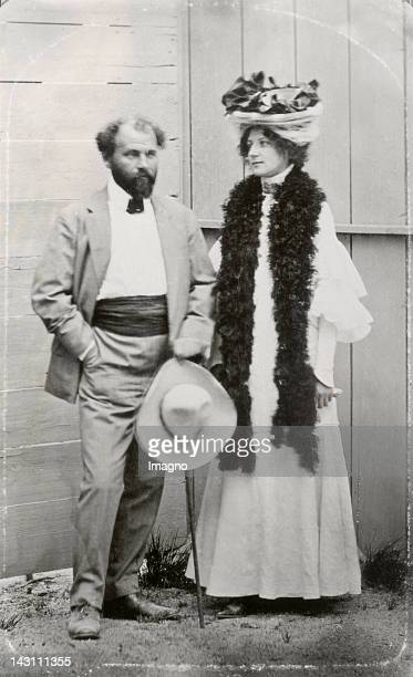 Gustav Klimt and Emilie Flöge Photograph About 1908