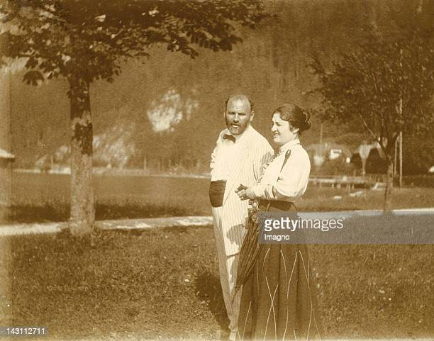 Gustav Klimt and Friederike BeerMonti at Weißenbach at the Attersee Photograph Austria 1916
