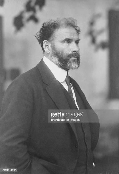 Gustav Klimt at the age of 55 a year before his death One of the last pictures of Klimt Photography by Moriz Naehr 1917 [Gustav Klimt im Alter von 55...