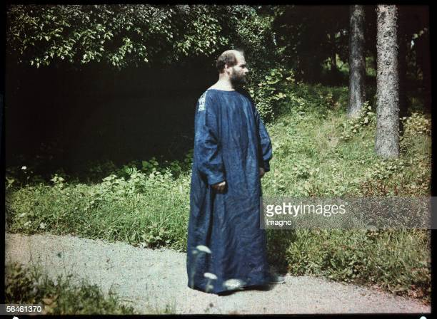 Gustav Klimt at the Atter lake LumiereAutochromeplate by Friedrich Walker Cutout Austria About 1910 [Gustav Klimt am Attersee LumiereAutochromePlatte...