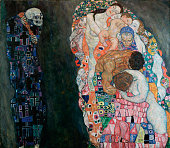 Gustav Klimt Death and Life 191015 oil on canvas 1805 x 2005 cm Leopold Museum Vienna Austria