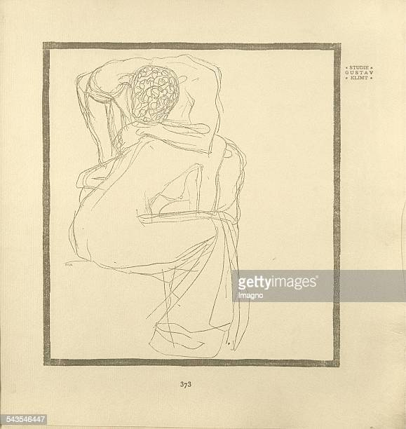 Gustav Klimt Study in the journal Ver Sacrum 6th year 1903 Issue 22 Page 373 Book printing