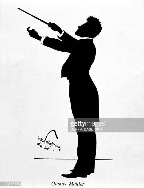 Gustav Mahler Austrian composer and conductor of Bohemian origin Silhouette 1901