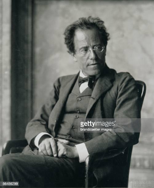Gustav Mahler Austrian composer Photography by Moriz Naehr 1907 [Gustav Mahler oesterreichischer Komponist Photographie von Moriz Naehr 1907]
