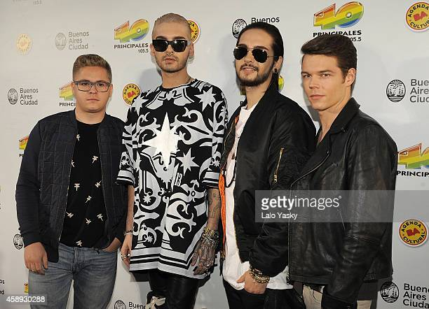 Gustav Schafer Bill Kaulitz Tom Kaulitz and Georg Listing of german band Tokio Hotel attend the '40 Principales America' awards at The Planetarium on...