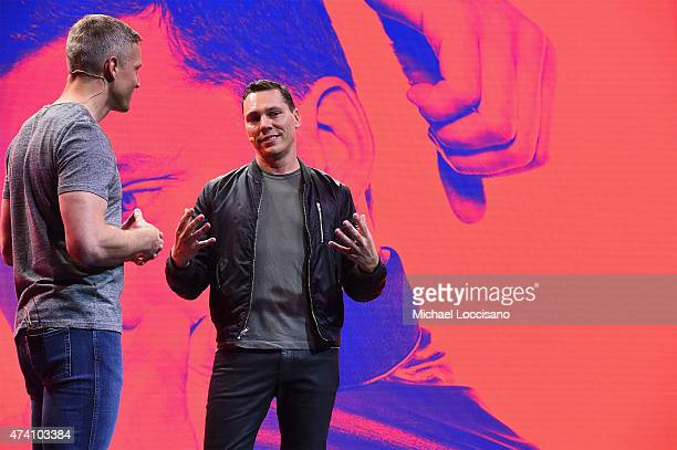 Gustav Söderström Chief Product Officer Spotify speaks onstage at Spotify Press Announcement on May 20 2015 in New York City