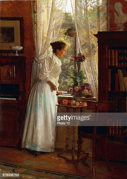 Gustav Vermehren Danish school Woman by a window 1894 Oil on canvas Private collection