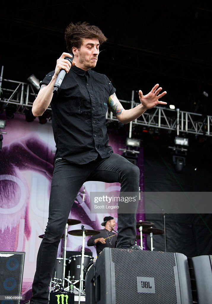 Gustav Wood of <a gi-track='captionPersonalityLinkClicked' href=/galleries/search?phrase=Young+Guns+-+Band&family=editorial&specificpeople=10987429 ng-click='$event.stopPropagation()'>Young Guns</a> performs during 2013 Rock On The Range at Columbus Crew Stadium on May 18, 2013 in Columbus, Ohio.