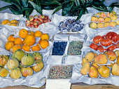 Gustave Caillebotte Fruit Displayed on a Stand c 18812 oil on canvas 765 x 1006 cm Museum of Fine Arts Boston