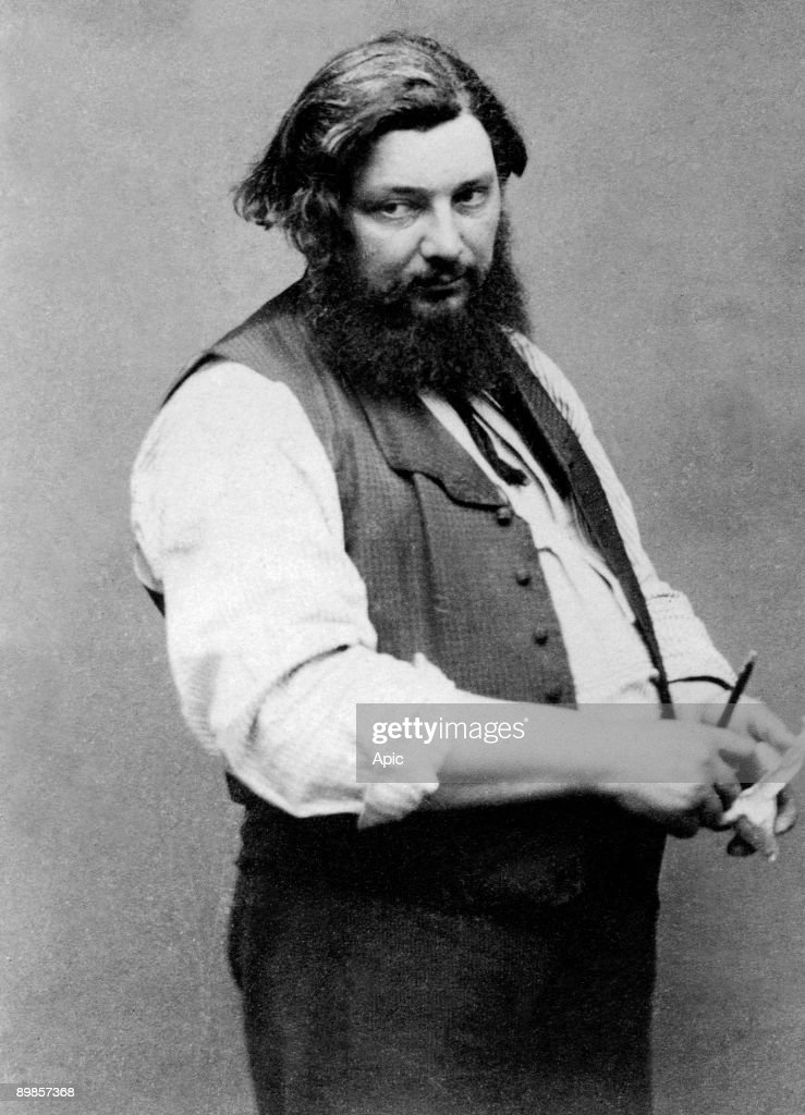 Gustave Courbet french painter c 1867 photo Etienne Carjat