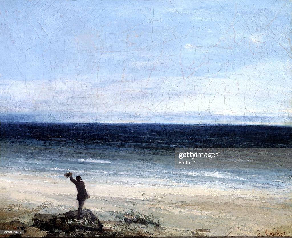 Gustave Courbet French school Le bord de mer à Palavas Oil on canvas Montpellier musée Fabre