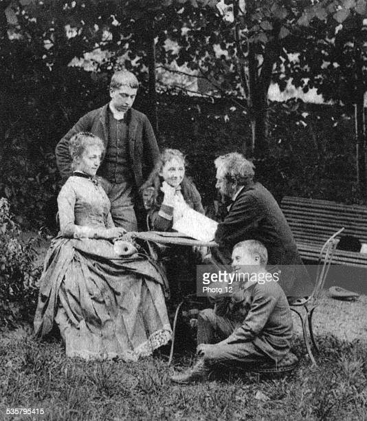 Gustave Eiffel with his family France